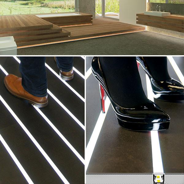 LED Profil P15, Fußbodenprofil trittfest