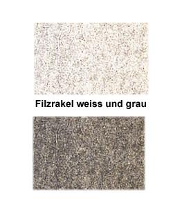 Filzrakel weiss und grau 100x65x12 mm