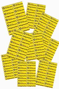 Selbstklebende Anlegemarken 0,3 mm Bogen mit 20 Marken