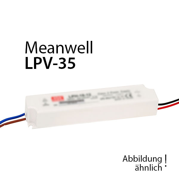 Meanwell LPV-35-24 Netzteil 36W 24V 1,5A / IP67