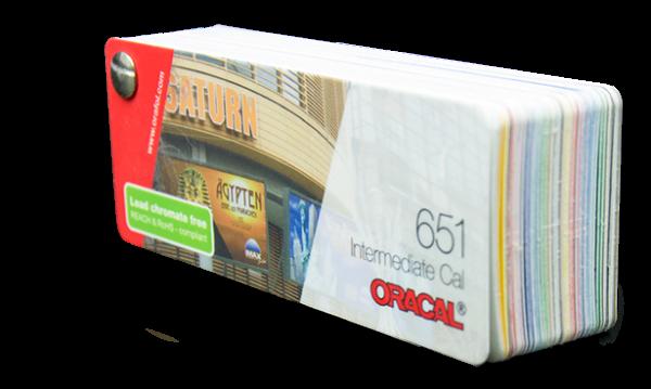 Farbfächer Oracal 651