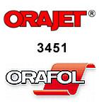 Orajet 3451 - Digitaldruckfolie, UV-stabilisiert, weiß, seidenglänzend, 80 µ