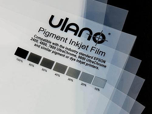 Ulano Pigment Inkjet Film