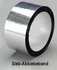 PE Siebabklebeband - Silberabdeckband -alubedampft