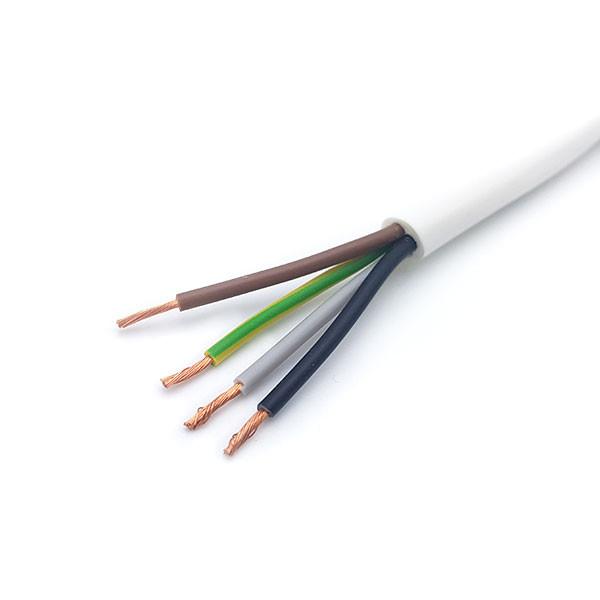 Kabel H03 VV-F 4-adrig, weiss