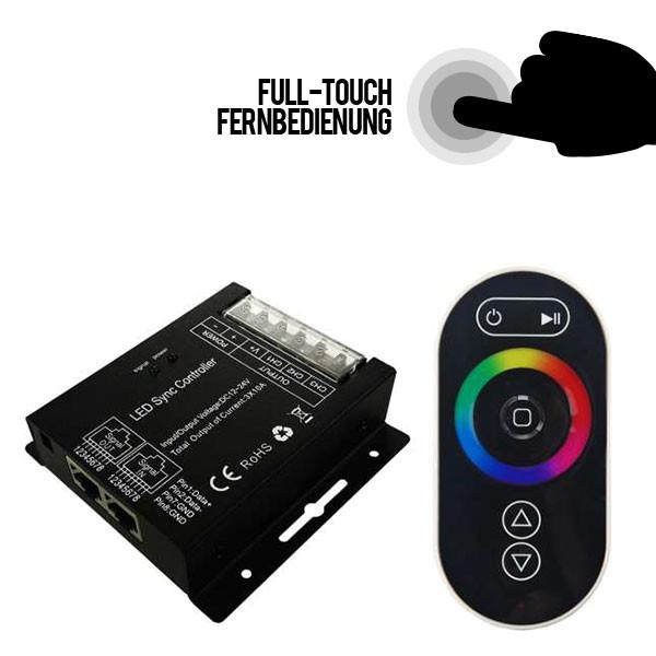 LED-Netzwerk-RGB-Steuerung 3x10A (12V-360W / 24V-720W) mit Fernbedienung