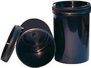 Kunststoff Runddose schwarz für UV-Siebdruckfarben mit Deckel