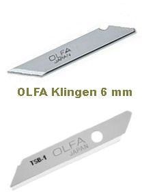 Olfa Spezial-Ersatzklingen 6 mm - KB & TSB-1