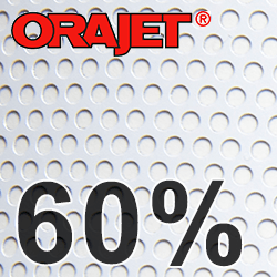 Orajet 3676 + 3636, Lochfolie für Fensterglas 60%