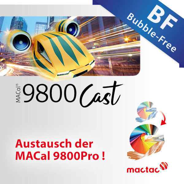 MACal 9800Cast BF, Bubble-Free Schwarz/Weiss